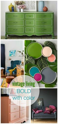 Vintage Living-Bold With Color BHG Style Spotters