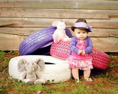 Adorable child and wonderful use of props!
