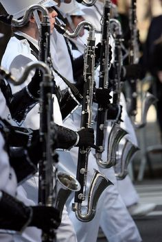 Bass clarinet ( they can be in marching band? :D )