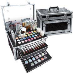 Kit Valise maquillage professionnel Parisax avec éclairage LED