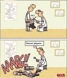 this made me laugh way too hard! oh soccer players