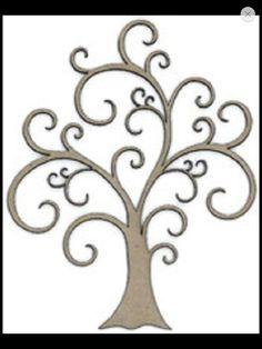Tree, flourish, large - Click Image to Close Tree Stencil, Stencil Art, Stencils, Stencil Patterns, Pattern Art, Stencil Designs, Garden Fence Art, Decorative Screen Panels, Landscape Art Quilts