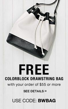 Free colorblock drawstring bag with your $55 order or more!  Shop https://robinward.avonrepresentative.com/