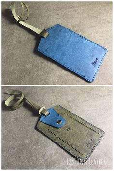 Funny Blue Birds Fashion Leather Passport Holder Cover Case Travel Wallet 6.5 In