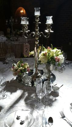 Beautiful center piece for a round table