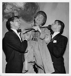 Dean Martin, Harpo Marx, and Jerry Lewis
