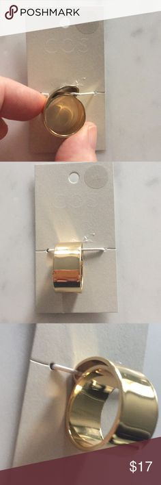 COS wide band gold finish ring Fits 6-7 COS Jewelry Rings