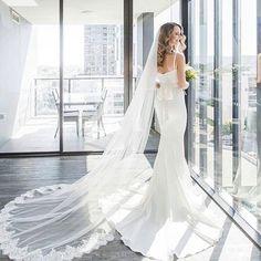Stunning Bride Jess wearing our White Arianna Dress Click link in bio to shop! #whiterunway #wedding #weddingdress