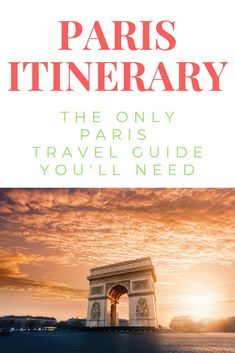 This is a free Paris France travel itinerary. It is the best one I have ever seen and its filled with things to do in Paris. It really is the best travel guide for Paris. See it here.