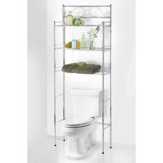 """Popular Bath Products 24.75"""" W x 65.5"""" H Over the Toilet Storage Finish: Chrome"""