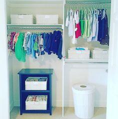 A NEAT Denver Nursery, Nursery Organization, Baby Organization, Organized Nursery, Baby closet