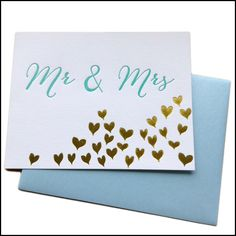 Halfpenny Postage Wedding Card, $5.95