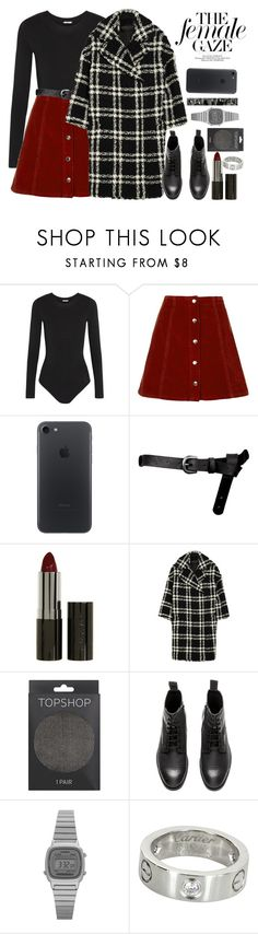 """""""Без названия #4021"""" by catelinota-a ❤ liked on Polyvore featuring Wolford, Topshop, ASOS, LORAC, Giambattista Valli, H&M, Casio and Cartier"""