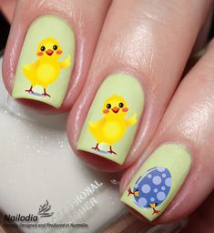 Easter Chicken Nail Art Sticker Water Transfer Decal by Nailodia on Etsy Easter Nail Art, Nail Art Stickers, Chicken Eggs, Unique Gifts, Handmade Gifts, Creative Nails, Beauty Hacks, Beauty Tips, Nail Art Designs
