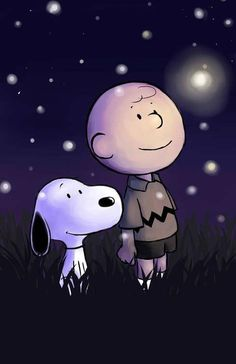 Snoopy & Charlie Brown.