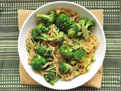 Sesame Soy Spaghetti Squash with Broccoli and Edamame