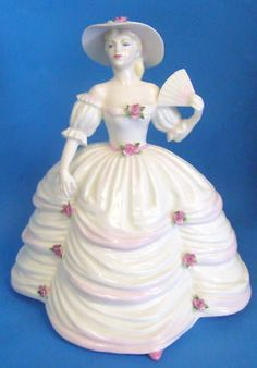 COALPORT FIGURE SOUTHERN BELLE  LADIES OF FASHION  #Figurines