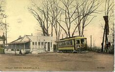 The Trolley Station in Caldwell, 1905.