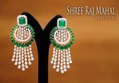 """58 Likes, 1 Comments - Shree Raj Mahal Jewellers (@shreerajmahaljewellers) on Instagram: """"Give an enchanting touch to your festive attire with these unbelievably gorgeous diamond earnings…"""""""