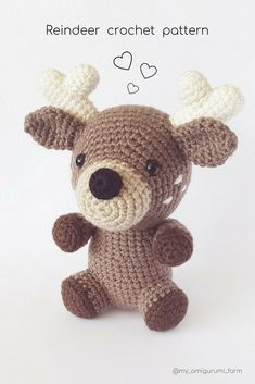Cute crochet animals, amigurumi patterns #amigurumi #crochet #pattern #cuteanimals #etsy #pdfpattern #crochetpattern #amigurumipattern #häkeln #ganchillo #kroşe #crochê #crochetideas #crochetaddict #crochetlove #easycrochet #crochetdeer #crochetreindeer #amigurumideer #amigurumireindeer #deer #reindeer