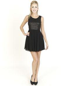 Black Dresses - Gather Sequin Dress - http://www.blackdresses.co.uk/