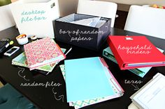 """Lots of Paper Piles? Check out: """"Organizing Our Paper Piles"""" on I Heart Organizing"""
