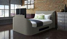 Medford Upholstered Media TV Bed Frame INCLUDED SUPERKING SIZE