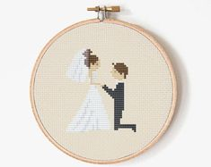 Cross stitch pattern Wedding gift Wedding by PatternsTemplates