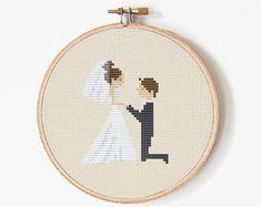 Cross stitch pattern Wedding gift Wedding by PatternsTemplates