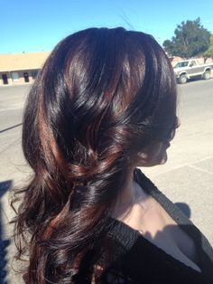 Fall highlights! Carmel highlights and dark brown base