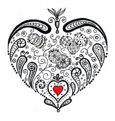 Heart Zentangle