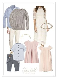 Blush, light blue, bright outfits for family photos