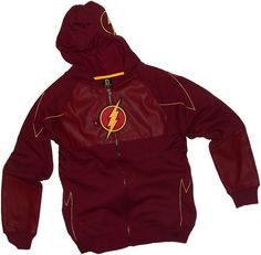 Amazon.com: Costume -- CW's The Flash TV Show Adult Mask Hoodie Fleece Sweatshirt: Clothing