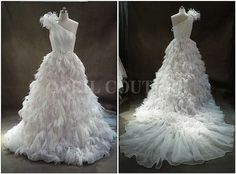 feather wedding dress - Google Search