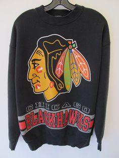 1980s Chicago Blackhawks Sweatshirt Salem Sportswear by kokorokoko, $38.00