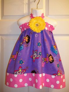 Dora Explorer dress outfit  first Birthday Party by GinaBellas1, $39.50
