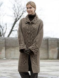 Cable Car Coat | Yarn | Free Knitting Patterns | Crochet Patterns | Yarnspirations