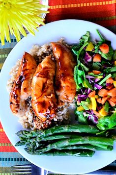 These Baked Teriyaki Chicken Tenders are sweet, tender, and delicious for any weeknight meal. Turkey Recipes, Dinner Recipes, Dinner Ideas, Meat Recipes, Baked Teriyaki Chicken, Honey Chicken, Balsamic Chicken, Garlic Chicken, Asian Recipes