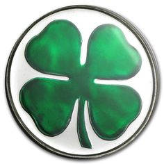1 oz Silver Round Coin Four Leaf Clover (Enameled, w/Box & Capsule)