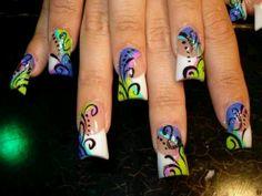 My crazy nail art :)