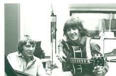Larry Knechtel and George Harrison at Sound Recorders Studios in 1968