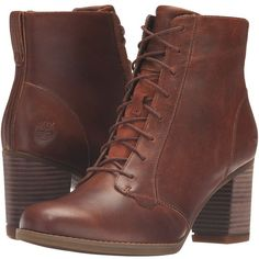 Timberland Atlantic Heights Lace Chukka Boot (Medium Brown Full Grain)... ($145) ❤ liked on Polyvore featuring shoes, boots, botas, chunky-heel boots, lace up chukka boots, chunky lace up boots, brown chukka boots and laced up boots