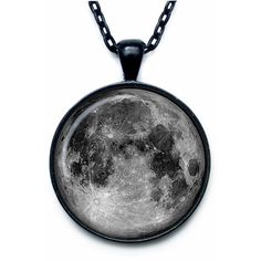 Moon Pendant Moon Necklace Moon Jewelry full moon galaxy universe... ($14) ❤ liked on Polyvore featuring jewelry, pendant jewelry, chain pendants, cosmic jewelry and chains jewelry
