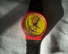 b0135679f09 Vintage 1980s 1990s Swatch Watch