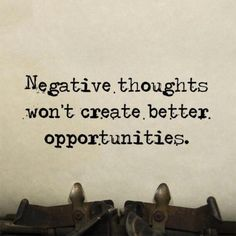Corpus JEHOVAH SOVEREIGN TRIUMPH INSTITUTES - NEGATIVE THOUGHTS WOULD NOT CREATE OPPORTUNITIES