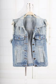 Foreign trade original single spring summer autumn of  n-style waistcoat thin fashion denim vest vest women small coat