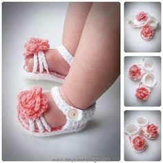 DIY Crochet Baby Sandals                                                                                                                                                                                 More