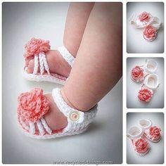 DIY Crochet Baby Sandals More