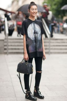 Models Off Duty liu wen