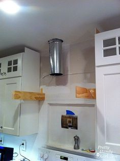 A step-by-step tutorial to build your own wooden range hood. Buy a range hood liner insert and then learn how to build the stove range hood yourself.